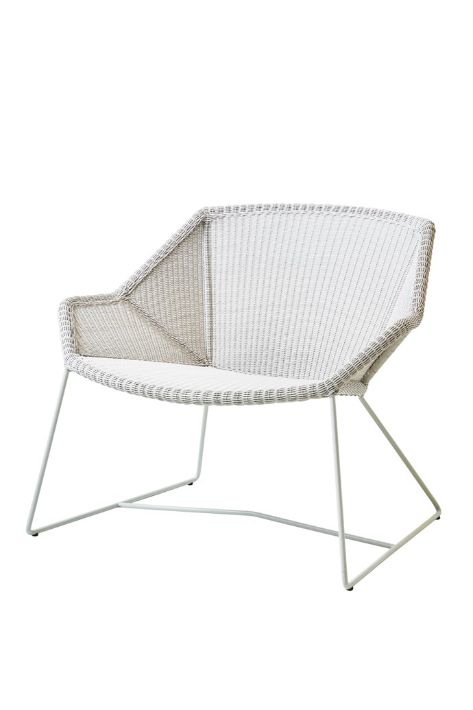 10\. Cane-line 'Breeze' lounge chair in Loom Antique White, $964, from [Clickon Furniture](https://www.clickonfurniture.com.au/).