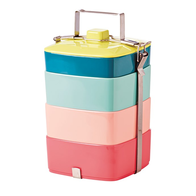 2\. Rice melamine lunch box, in Shine Colours, $99.95, from [Corner Store](https://cornerstore.net.au/).