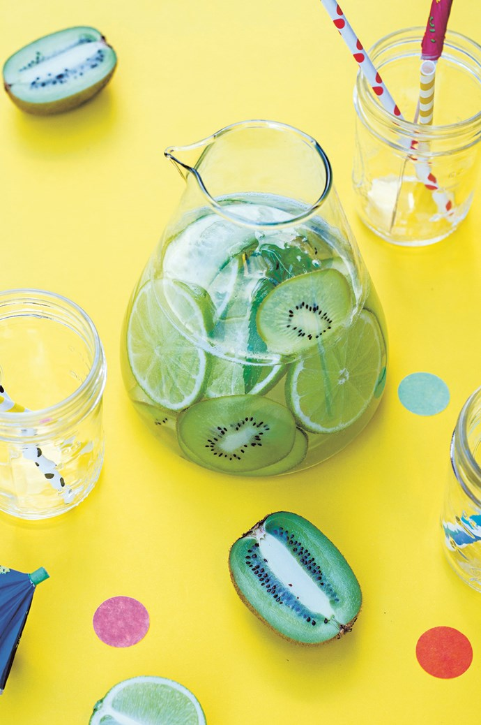 Set the cordial aside and add a touch of low-sugar class with a jug of [kiwi, cucumber, lime and mint sparkling water](http://www.homelife.com.au/recipes/entrees/kiwi-cucumber-lime-and-mint-sparkling-water). | Photo: Judy Moosmueller