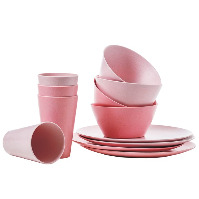3\. Even your picnicware deserves to be pretty in pink. Home Republic 'Suva' bamboo tableware, from $19.99 a set of 4, from [Adairs](https://www.adairs.com.au/).