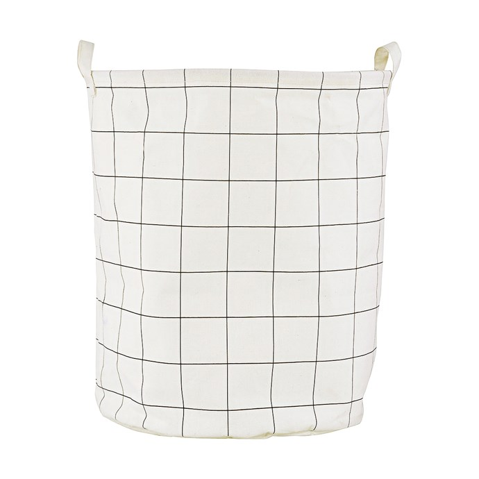 Our idea of cosmetic heaven is laid out in lines of beautiful bathroom shelving. These are six easy items to compartmentalise your stray sink accessories. 1. House Doctor 'Check' laundry bag, $34.95, from [Telegram Co.](http://www.telegramco.com/)
