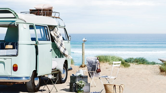 Are we there yet? Time to hit the road for a few days on the coast — or, let the ocean breeze into your home with these summer decorating ideas. Lay your table with a minimal spread for lazy mornings and long breakfasts, or dress your bedroom in fresh linens to welcome floods of sunlight. This is our moodboard for easy, breezy coastal style.  | Photo: Lisa Cohen