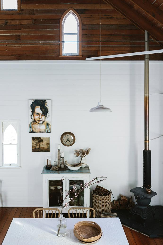 "Like her father, Cheryl harbours a penchant for collecting farmhouse wares. ""My dad was a farmer and I loved going with him to clearing sales,"" she reminisces. ""I love the thrill of unearthing things."""