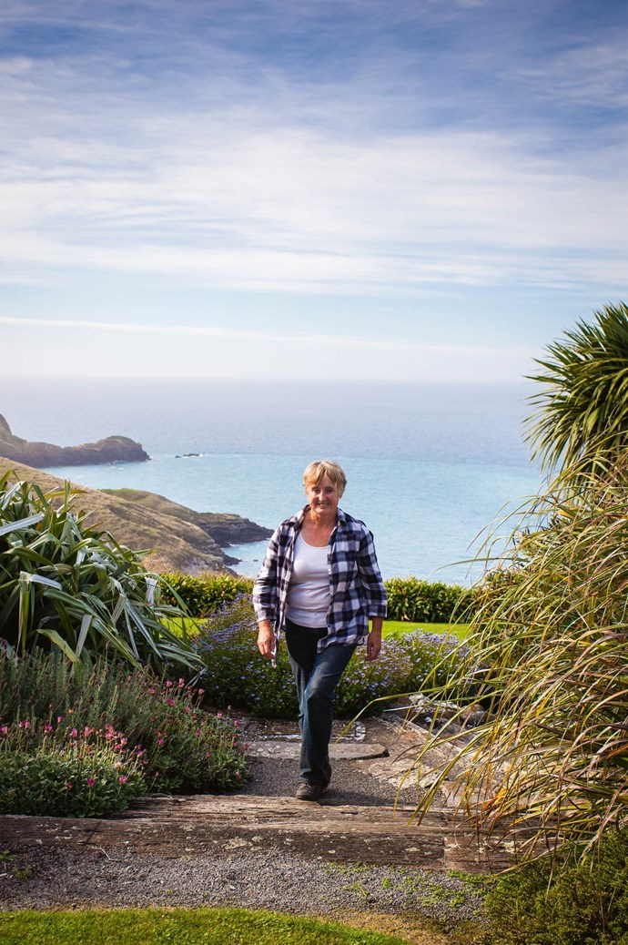 Jill, a landscape designer, and her husband Richard have owned Fishermans Bay for 20 years. She began reshaping the land after they rebuilt their house 10 years ago.  | Photo: Claire Takacs