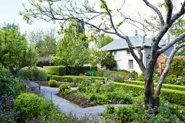 **3.** Clipped shrubs and hedges, fruit trees and flowering plants feature in the walled garden of [Old Wesleydale](http://www.homelife.com.au/gardening/galleries/old+wesleydale+garden+,19137), a historic estate in Tasmania's Mole Creek. | Photo: Michael Wee