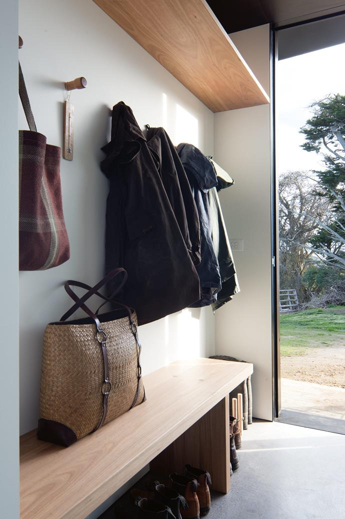 "Light floods the [mudroom](https://www.homestolove.com.au/mudroom-design-6620|target=""_blank""). The house's northern orientation, external shading and effective cross-ventilation also ensures passive solar heating and cooling."