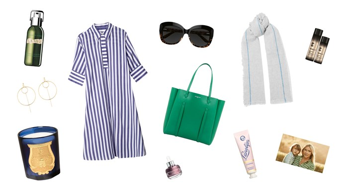 Be ready for anything, even when you're on the road, with designer Collette's top picks for easy elegance. Clockwise from top left, La Mer Regenerating Serum, $465, from [Mecca Cosmetica](https://www.mecca.com.au/); 'Fairfax' dress, $440, from [Jac + Jack](https://www.jacandjack.com/); Collette Dinnigan 'C Dinnigan Sun RX 17' sunglasses, $249, from [Specsavers](https://www.specsavers.com.au/); Isabel Marant 'Vala' scarf, $455, from [Net-a-porter](https://www.net-a-porter.com/au/en/); Label.m Professional Haircare Diamond Dust shampoo and conditioner, $65 each, from [My Hair Care](https://www.myhaircare.com.au/); Lanolips 101 Ointment, $14.95, from [Mecca Maxima](https://www.mecca.com.au/); Balenciaga 'Everyday' tote bag in Green, $1185, from [Parlour X](https://www.parlourx.com/); Sisley Black Rose Precious Face Oil, $260, from [David Jones](http://shop.davidjones.com.au/djs/en/davidjones); Cire Trudon Les Belles Matieres 'Madurai' candle, $135, from [Agence De Parfum](http://agencedeparfum.com.au/); 'Tova' earrings, $130, from [Elvis et Moi](https://elvis-et-moi-2.myshopify.com/).