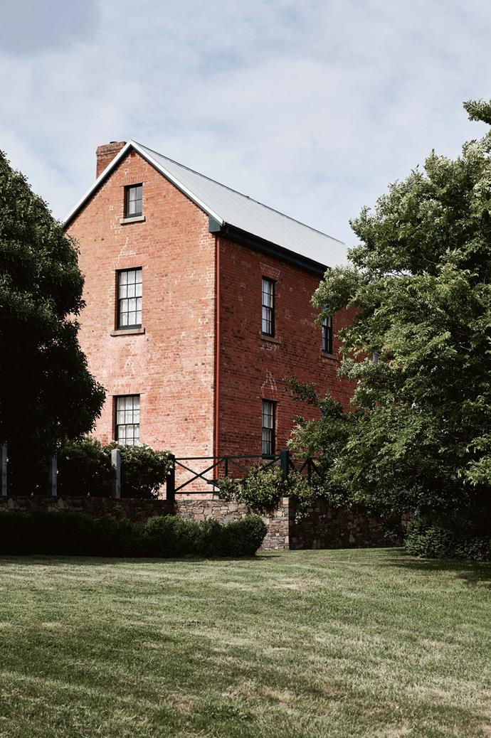 The Westmores' house at Nile Farm, where the front yard is planted with a Chinese elm tree and English oak.