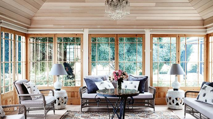The sweeping bushland views enjoyed from the sitting room are the very same that inspired John Glover's art.