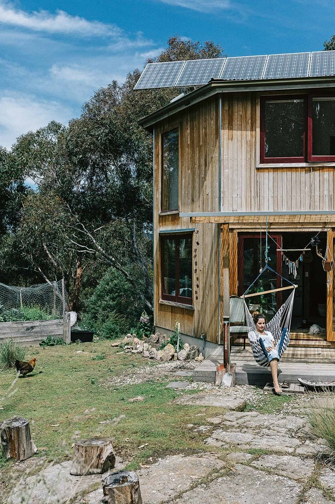 "The previous owner had personally renovated the cabin to add some impressive [eco-credentials](https://www.homestolove.com.au/an-eco-friendly-rebuild-in-melbourne-19147|target=""_blank""): a series of solar panels, water tanks and a composting toilet."