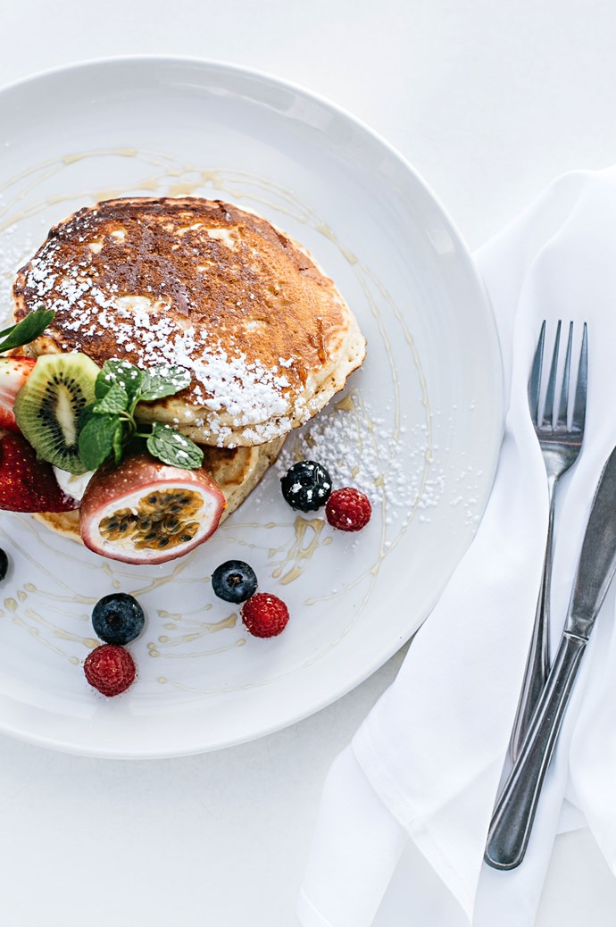 The pancakes of the day are a favoured choice at Bistro C. | Photo: Abbie Melle