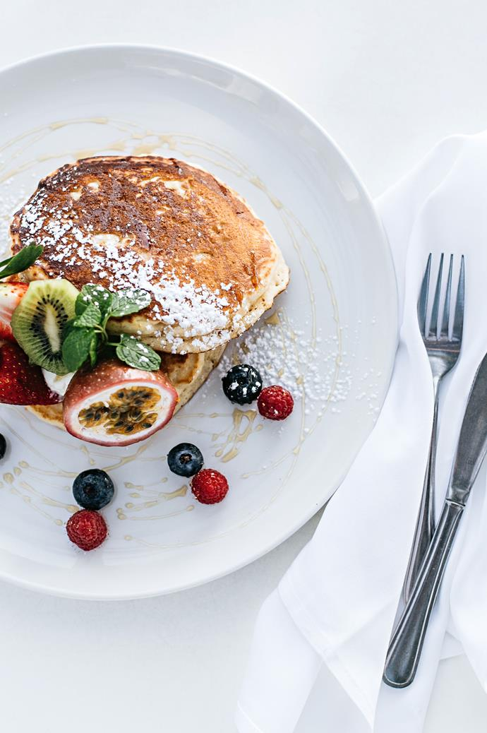 The pancakes of the day are a favoured choice at Bistro C.