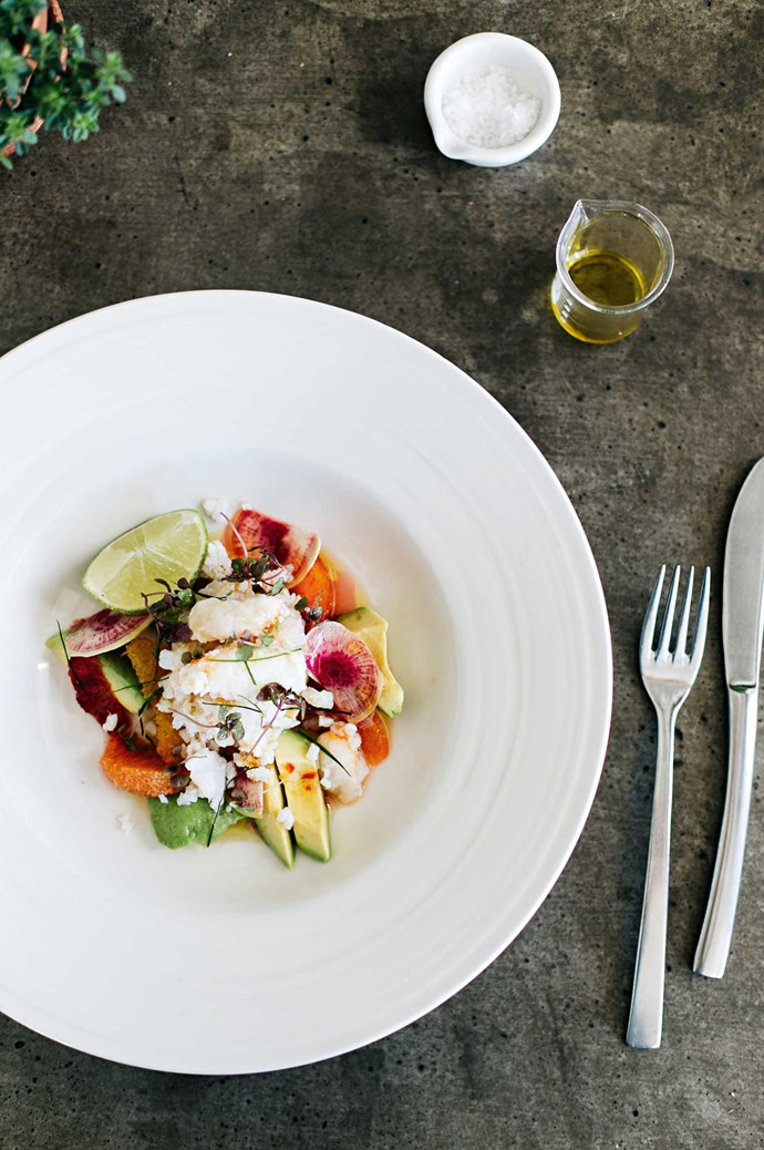 Spanner crab with avocado, orange, radish and kaffir lime dressing at Thomas Corner Eatery.  | Photo: Abbie Melle