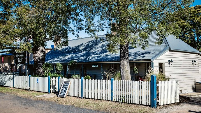 """[**Lochiel House**](https://www.lochielhouse.com.au/ target=""""_blank"""" rel=""""nofollow"""").<p>  <p>This restaurant in a historic Kurrajong Heights cottage dating from 1825 specialises in local seasonal produce.<p>"""