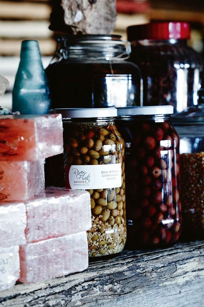 [Riverflats Estate](https://www.riverflatsestate.com.au). Here you'll find olive oil, chutneys, relishes, jams, dukkah and caramelised vinegars. | Photo: Mark Roper