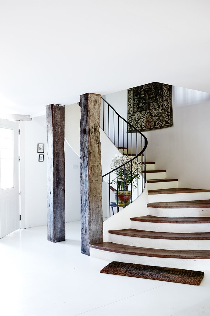 The sweeping staircase at Talits Estate.  | Photo: Mark Roper
