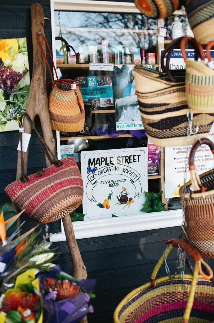 [Maple Street Co-Operative](http://www.maplestreetco-op.com/). Operating in the heart of town since 1979, here you'll find an ample supply of local products, organic vegetables and gourmet snacks for the road. | Photo: Abbie Melle