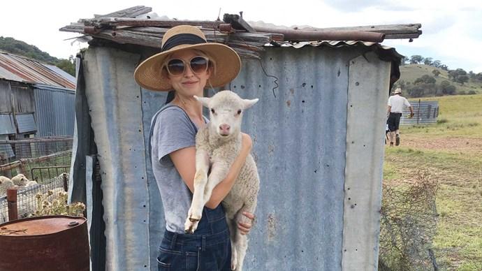Fibre artist Grace Wood, founder of [Grace Wood Design Studio](http://www.gracewooddesigns.com/) and designer at [Shhorn](http://shhorn.com/) clothing label uses wool from her family farm to create felt textiles. | Photo: Felix Forest