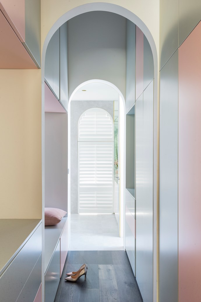 Have fun: If you want to spin the colour wheel and use a sorbet palette don't forget to have a little fun with a riot of hues. The best place to do this? A corner of a bedroom, dressing room or wardrobe. Percy St Residence by Bagnoli Architects. Styling: Ruth Welsby. Photo © Ari Hatzis