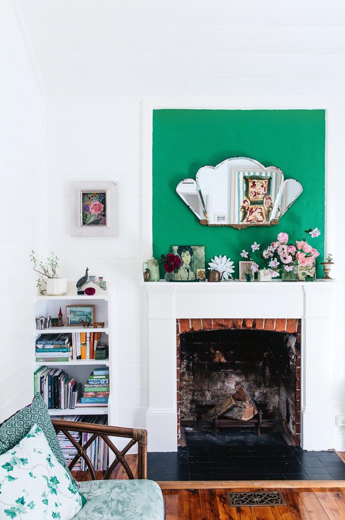 """""""Ever since I was a girl, I've loved fabric, collecting and making things. I'm finding so much joy in losing myself in making things people genuinely seem to love,"""" Elizabeth smiles. Cushions in the sitting room are from Piece by Piece Home."""