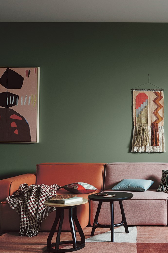 "3\. Reflective. Darker greens create a hushed atmosphere, as they are associated with nature and lush forests. ""Colours such as greens and blues can help you feel relaxed and rebalanced,"" says Andrea Lucena-Orr of [Dulux](https://www.dulux.com.au/). ""These balancing hues will transform your room into a restful, relaxing sanctuary. They are perfect for living spaces and bedrooms."" TRY: Dulux Wash & Wear paint in [Shire](https://www.dulux.com.au/specifier/colour/shire), $91.40 for 4L; and [Herbalist](https://www.dulux.com.au/specifier/colour/herbalist), $91.40 for 4L. 