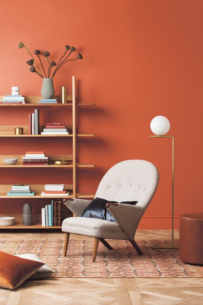 "2\. Cosy & warm. Consider choosing a paint with an orange tone if you want to create a sociable space, says [Haymes Paint](http://www.haymespaint.com.au/)'s colour and concept manager, Wendy Rennie. She recommends Comanche Dust as an orange that works well in living areas. ""Being in the orange family, it's definitely associated with having a lot of energy, which I think is a positive thing, particularly when you brown it off like Comanche Dust,"" she says. ""Sometimes a bright orange can be very overbearing, but when it's toned down, it can be quite warm, which gives a feeling of cheerfulness. It's very sociable because it's got that energy associated with it."" TRY: Ultra Premium Impressions paint in [Organic 7](http://www.haymespaint.com.au/explore-colours/colour-range/view/30/6121), $74.90 for 4L, and [Comanche Dust](http://www.haymespaint.com.au/explore-colours/colour-range/view/2/6489), $74.90 for 4L, both from [Haymes](http://www.haymespaint.com.au/). 