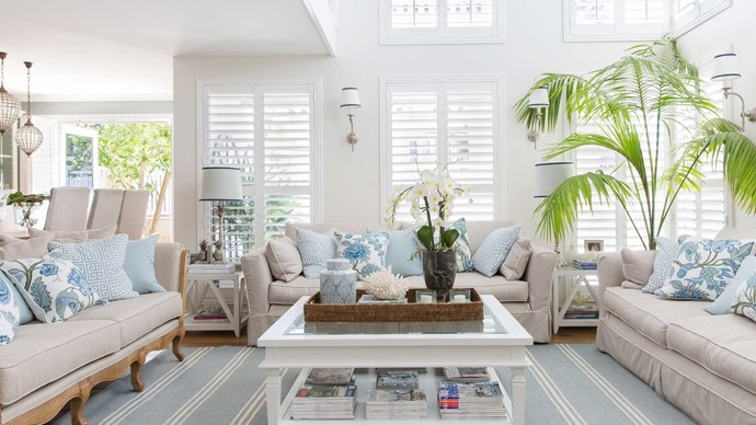 "Light and space is an important element of Hamptons style, says Natalee. ""Natural light can really transform a room, so it's worth spending time at the start of a Hamptons build or renovation to consider key ways to maximise light year round."""