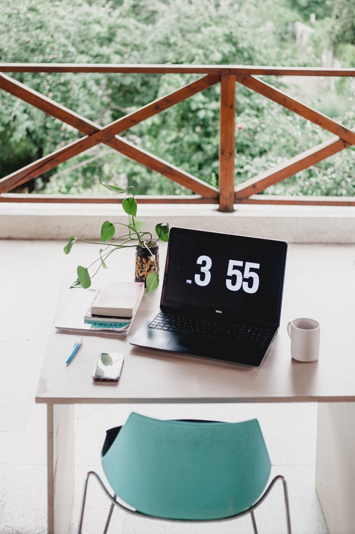Seize that opportunity for natural light and incorporate your balcony into your home office. Fact: studies show that working in daylight, rather than artificial lighting, actually improves productivity. Image courtesy of [Georgia de Lotz](https://www.instagram.com/georgiadelotz/)