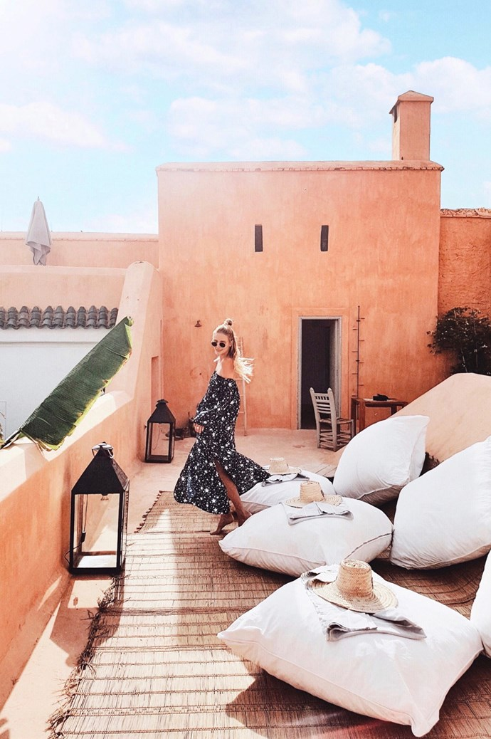 While we're not all living it up in Marrakech, channel the Moroccan riad's charms by introducing oversized floor cushions and oil lamps to the balcony. Image courtesy of [Ohh Couture](https://ohhcouture.com/).