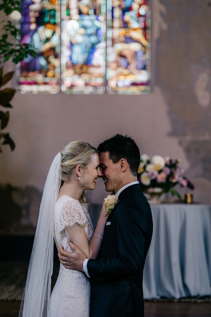 """""""It was the most love-filled day,"""" says Elissa of the wedding. """"We just felt so loved by all the people in our lives, and that they were so happy for us and ready to celebrate!""""   Photo: Marnie Hawson"""