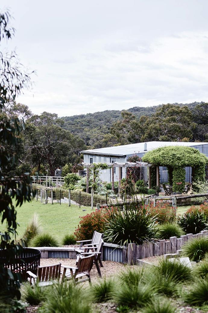 "[**Haven Red Hill, VIC**](https://www.homestolove.com.au/you-can-stay-here-hillside-haven-in-victorias-mornington-peninsula-13977|target=""_blank"").<p> <p>Once a free-range chicken farm, Kerry Watson and David Mumby's home grew from their shared vision to relocate to a [beautiful rural location](https://www.homestolove.com.au/rural-homes-with-animals-19599