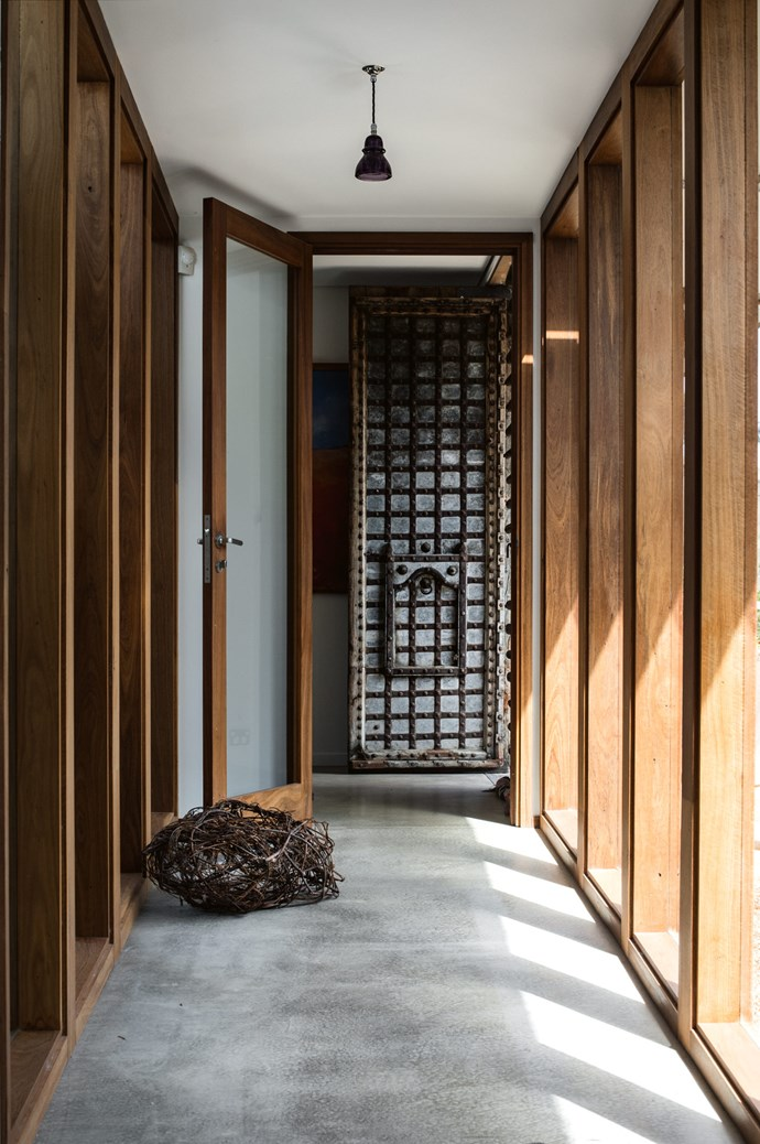 "One of the hallways connecting the home. ""We invested a lot of time in planning, with wood-fired hydronic heating, northern orientation, double glazing and deciduous shade in the north,"" says Tamara, who worked with Sydney [architect Caroline Pidcock](https://www.homestolove.com.au/sydney-terrace-renovation-by-pidcock-architecture-5821
