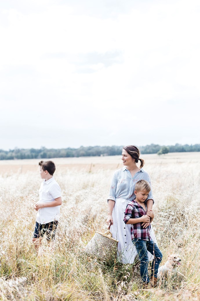 The mother of five, based in Dubbo, NSW, says her daily outfit reflects a need for beauty for also practicality that can meet the demands of motherhood and business.  | Photo: Abbie Melle