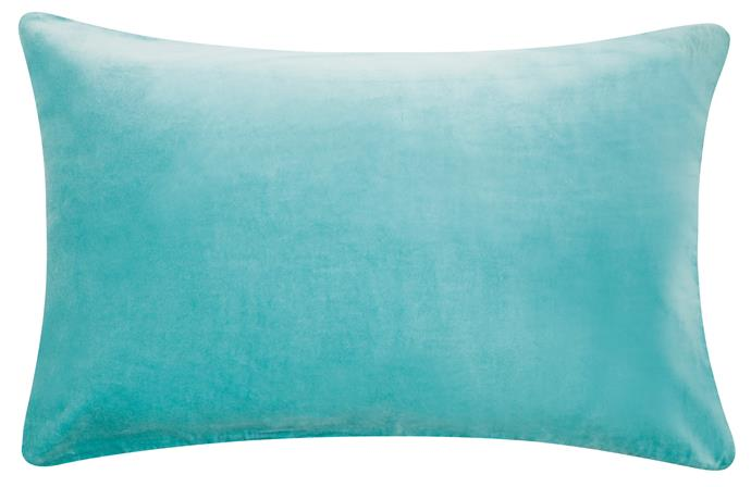 5\. Velvet pillowcase in blue, $49, from [Castle and Things](https://www.castleandthings.com.au/).