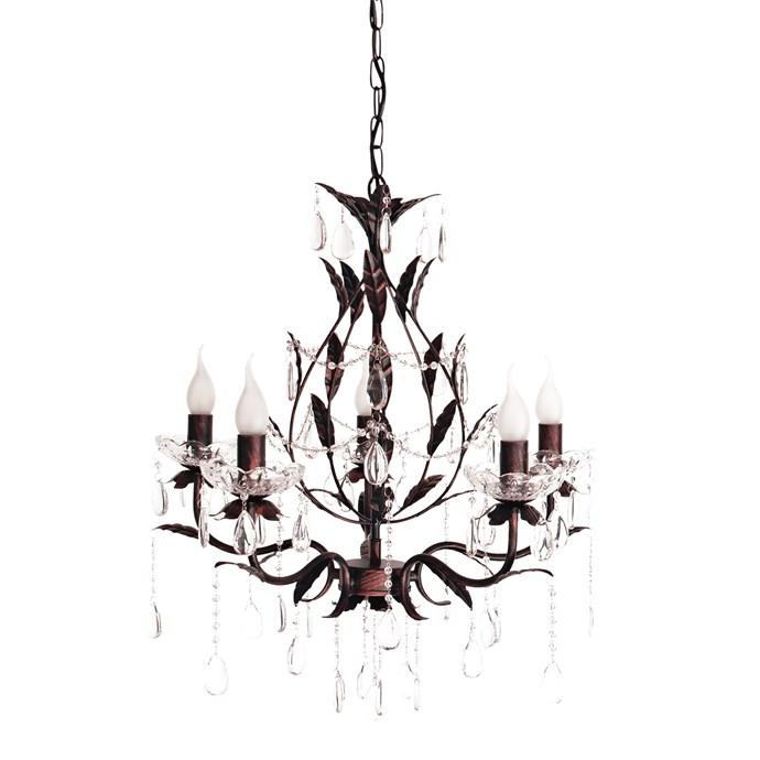 2\. 'Celine' five-light chandelier, $189, form [Ivory & Deene](https://www.ivoryanddeene.com.au/).