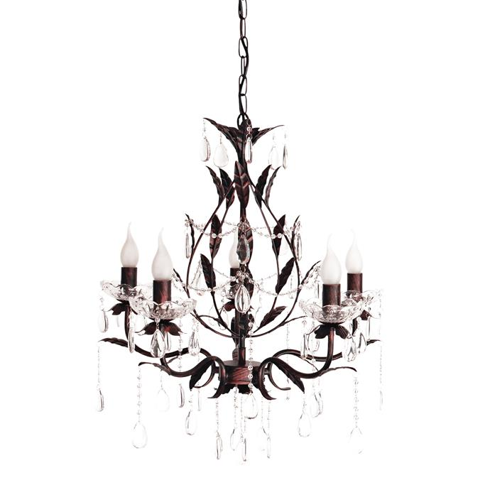2\. 'Celine' five-light chandelier, $189, form [Ivory & Deene](https://www.ivoryanddeene.com.au/).