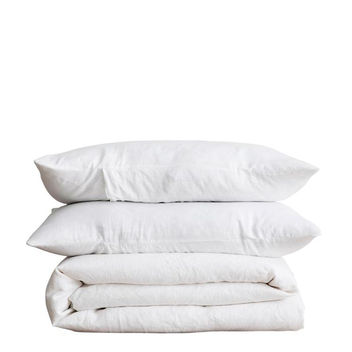 11\. Duvet cover set in white, $185 for single bed, from [Cultiver](https://cultiver.com.au/).