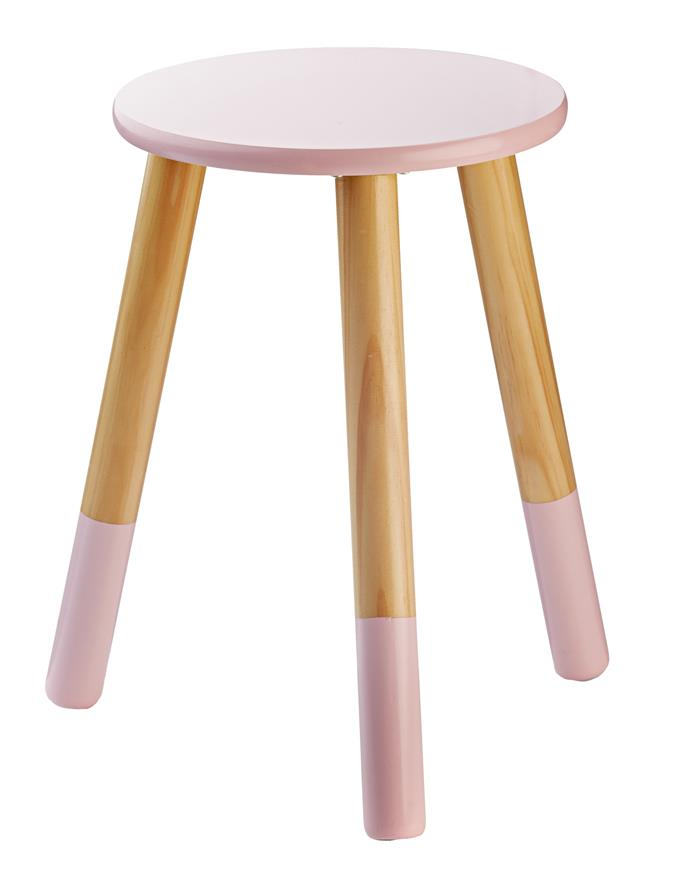 9\. 'Dipped' stool in pink, $12, from [Kmart](http://www.kmart.com.au/).