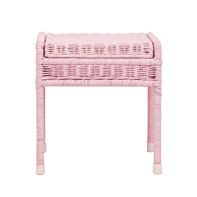 8\. 'Storie' stool in pink, $79, from [Olli Ella](https://us.olliella.com/).
