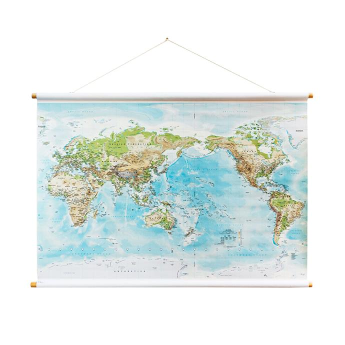 1\. Large world canvas map, $369, from [Milligram](https://milligram.com/).