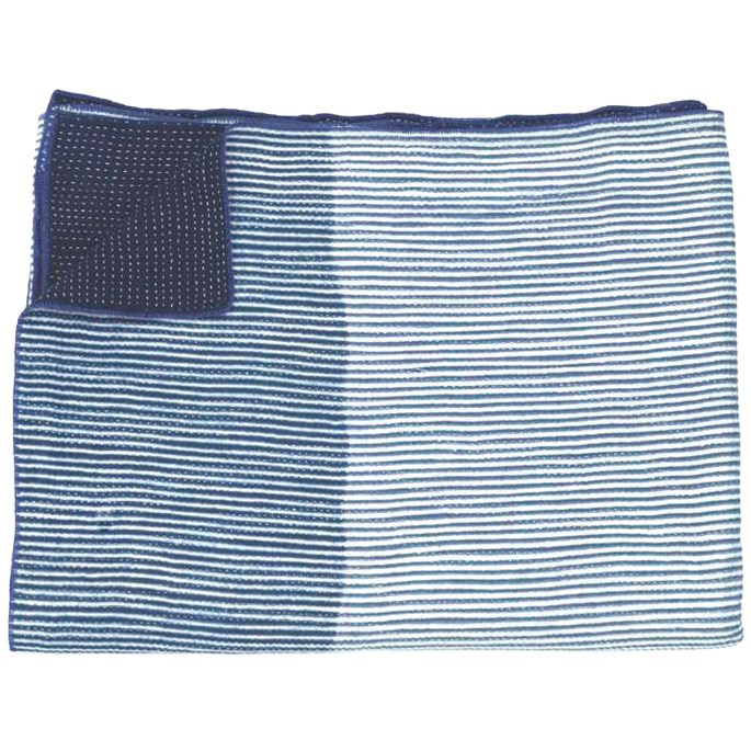 Shibori indigo quilt, $695 for king-single bed, from [Sally Campbell Handmade Textiles](https://www.sallycampbell.com.au/).