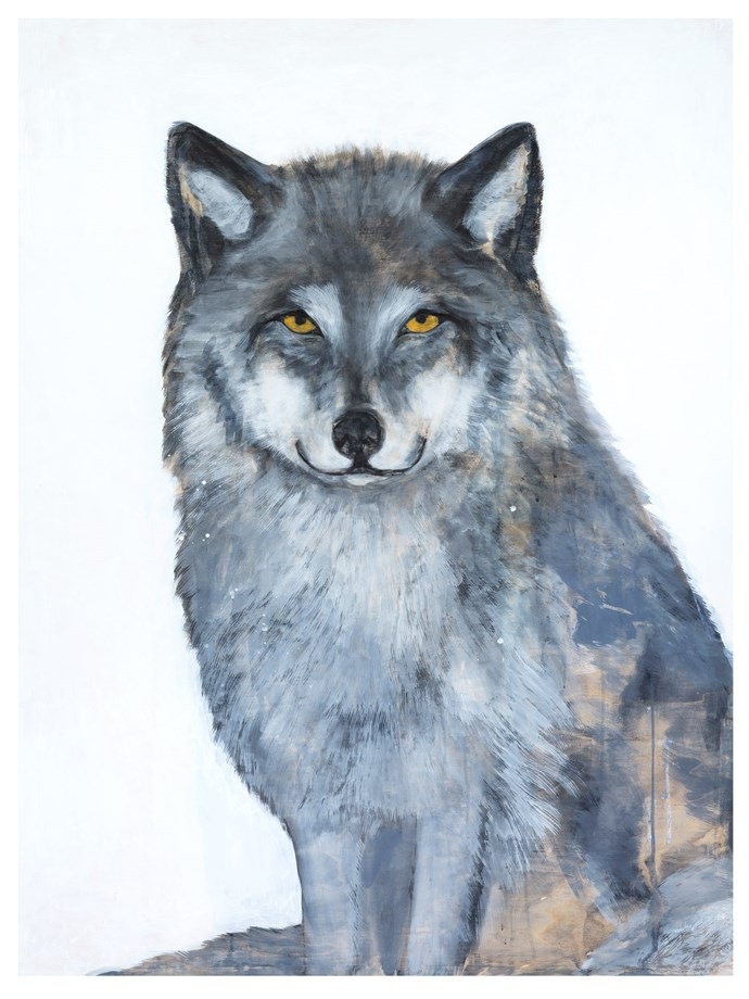 'Wyatt Wolf' fine art print by Cat Lee, from $99, from [Unclebearskin Productions](https://unclebearskin.com/).