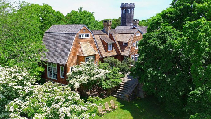 Tower Hill is sited on more than 20 private open and wooded acres in Bridgehampton. From the observatory, one can see the Atlantic Ocean, the south shore of Connecticut, Gardiner's Island and the North Fork Peninsula.