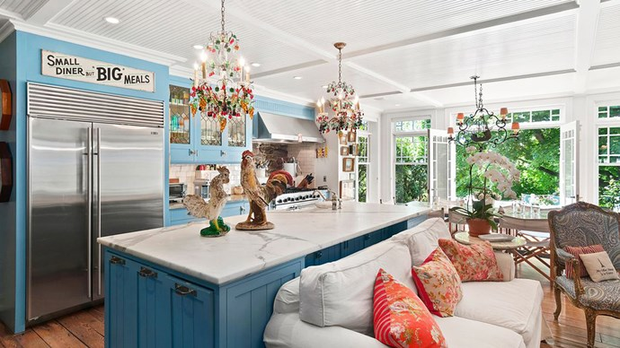 Christie's eclectic taste has characterised the house interiors to be bright, colourful and lavish.