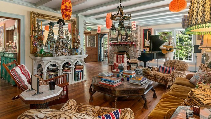 Over 11,000 square feet of living space is home to Christie's diverse collection of curios, books and art.