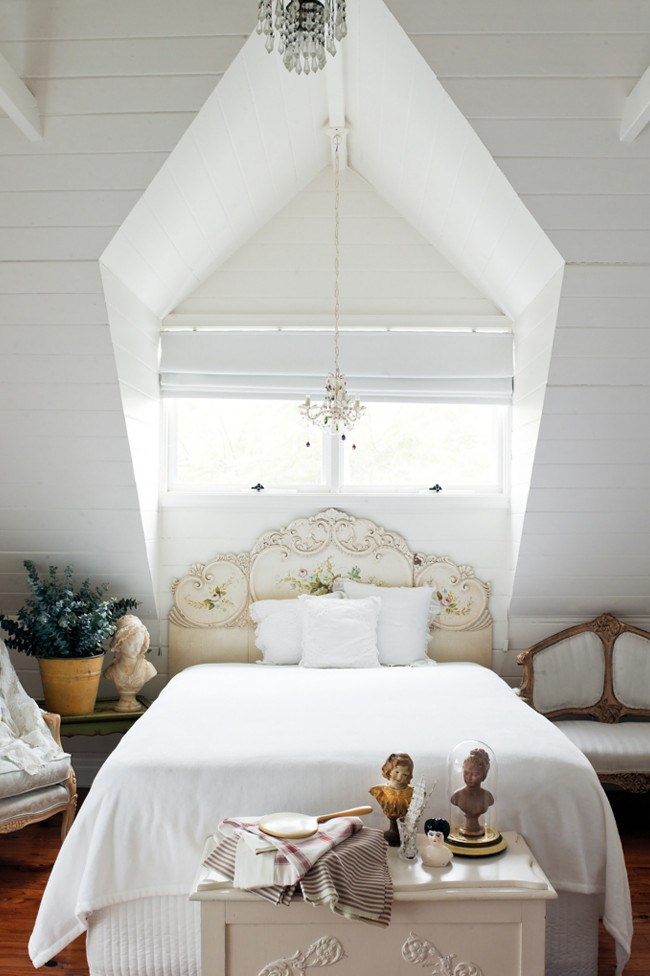 An upstairs [bedroom](http://www.homelife.com.au/decorating/bedroom) lit by a dormer window. | Photo: Jared Fowler