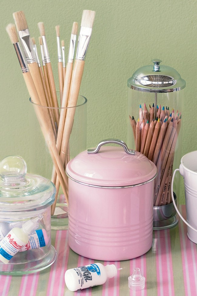 Provide pencils, brushes and paints to encourage creative [play](http://www.homelife.com.au/decorating/outdoor/cubbyhouse+tips,4432). When deciding on child-sized furniture, choose a table with built-in storage to hold the bare necessities. Bulky items can be kept in a separate cupboard.   Photo: Scott Hawkins