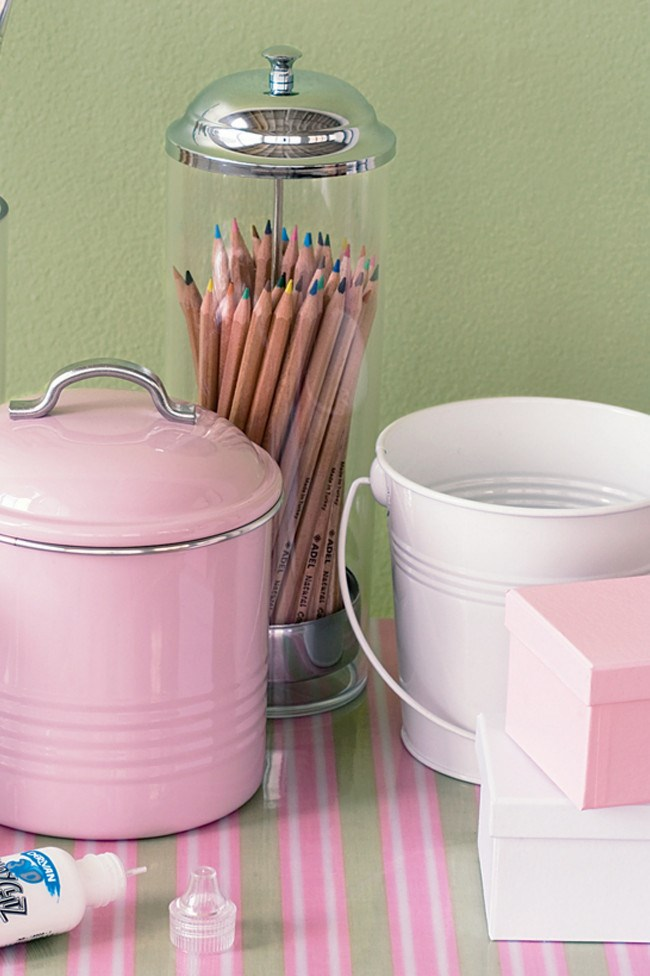 Storing materials in solid plastic jars, [boxes](http://www.homelife.com.au/decorating/storage/how+to+create+a+decorated+storage+box,4559) and tins with lids keeps things neat and organised. By bringing out select supplies, you can direct their activities in a hands-off way.   Photo: Scott Hawkins
