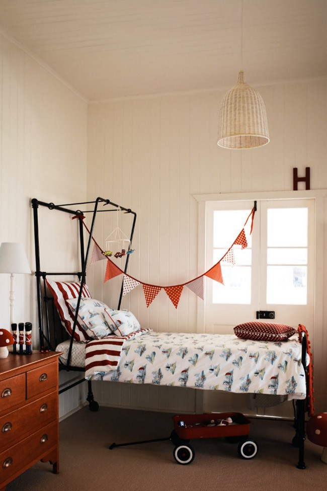 **Red hot** For an instant pick-me-up inject a splash of bright colour, such a the bold red used here. You can use intense colours as accents by adding toys, [bunting](http://www.homelife.com.au/decorating/trends/how+to+make+flag+bunting,3569) or soft furnishings in your chosen shade. | Photo: Jared Fowler