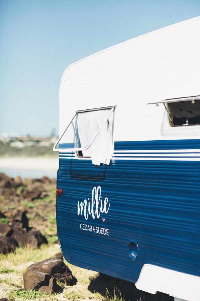 The couple purchased a 1966 Millard Florida from Gumtree for $3.3K and fondly named her 'Millie'.